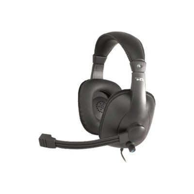 Cyber Acoustics AC-960 Gradeheadset with mic and volume control - Headband Leatherette EarPad