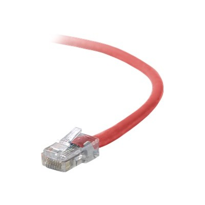 Belkin A3X126-01-RED Crossover cable - RJ-45 (M) to RJ-45 (M) - 1 ft - UTP - CAT 5e - red