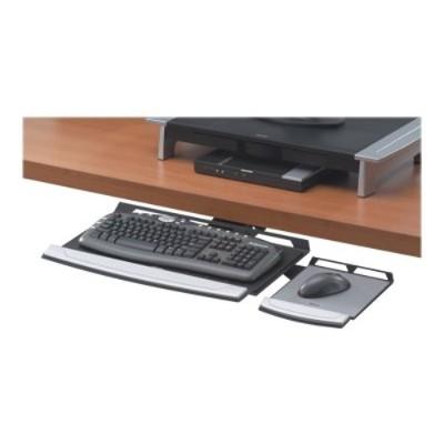 Fellowes 8031301 Adjustable Keyboard Manager - Keyboard platform - black  silver