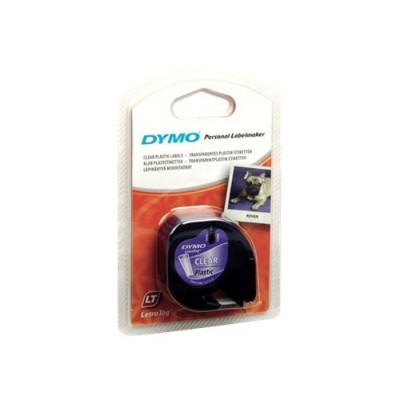 Dymo 16952 LetraTAG - Tape - plastic - black on clear - Roll (0.47 in x 13.1 ft) 1 roll(s) - for LetraTag