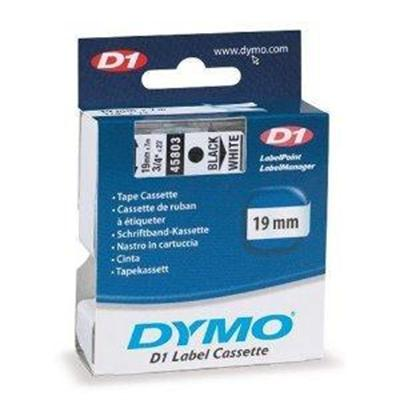 Dymo 45803 D1 - Label tape - self-adhesive - black on white - Roll (0.75 in x 23 ft) 1 roll(s) - for LabelMANAGER