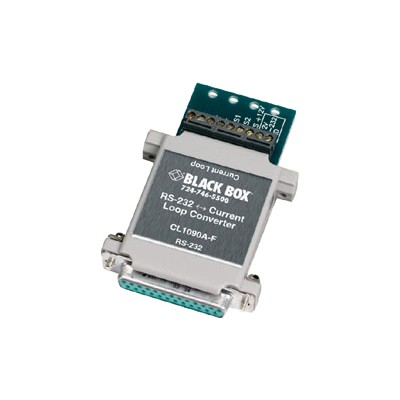 Black Box CL1090A-F-US HS RS-232<->Current Loop Interface Converter - Transceiver - RS-232 - serial - 25 pin D-Sub (DB-25) / terminal block