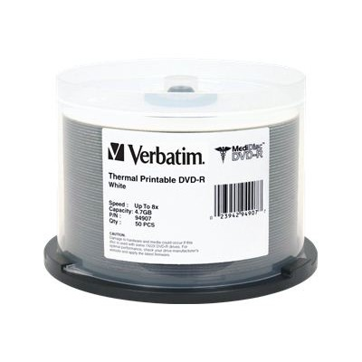 Verbatim 94907 MediDisc DVD-R x 50 - 4.7 GB - storage media