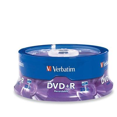 Verbatim 95033 25Pack DVD+R 4.7GB 16X Branded - Storage media