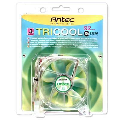 Antec TRICOOL 92MM DBB TriCool Double Ball Bearing 3 Speed 92mm Fan