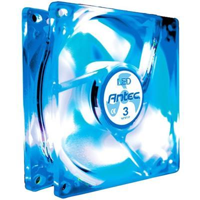 Antec TRICOOL80MM BLUE 80MM Case Fan Tricool Blue LED Fan with 3 Speed Switch