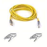 Belkin A3X126-25-YLW-M RJ45 CAT 5e UTP Crossover Cable - 25 feet  - Yellow