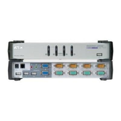 Aten Technology CS1744 MasterView Dual-View CS-1744 - KVM/Audio /USB Switch - 4 Ports - 1 Local User