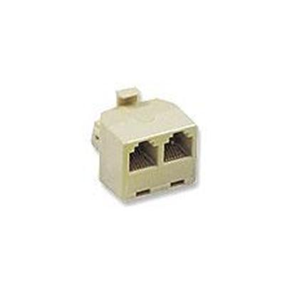 Cables To Go 01938 Modular T Adapter Phone splitter RJ 45 F to RJ 45 M ivory