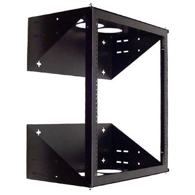 Belkin F4D148 Wall Mount Swing-Away Relay Rack - Black
