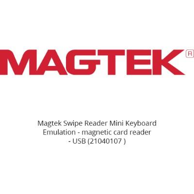 Magtek 21040107 Swipe Reader Mini Keyboard Emulation - Magnetic Card Reader - Usb - Pearl White