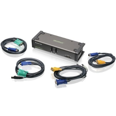Iogear GCS1742 2 Port Dual-View KVM Switch with Audio and USB Peripheral Sharing