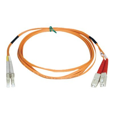 TrippLite N516-03M 9ft Duplex Multimode 50/125 Fiber Optic Patch Cable LC-SC 3 meter