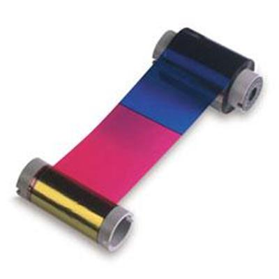 Zebra Tech 800015-540 5 Panel True Colors Print Ribbon YMCKO for P310i  P320i  P330i and P420i - Black