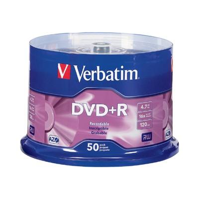 Verbatim 95037 50Pack DVD+R 4.7GB 16X - Storage media