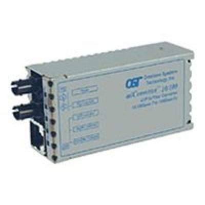 Omnitron Systems 1100-0-1 Miconverter 10/100 - Fiber Media Converter - Ethernet  Fast Ethernet - 10base-t  100base-fx  100base-tx - Rj-45 / St Multi-mode - Up T