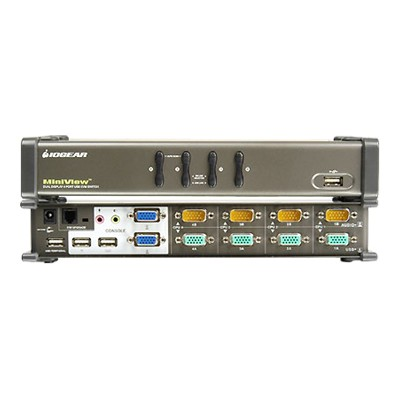 Iogear GCS1744 GCS1744 MiniView 4-Port Dual View KVMP Switch