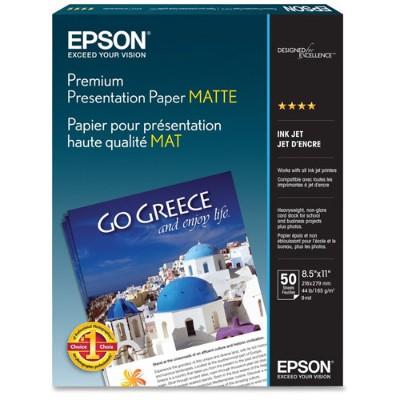 Epson S041257 8.5 x 11 Premium Presentation Paper Matte - 50 Sheets