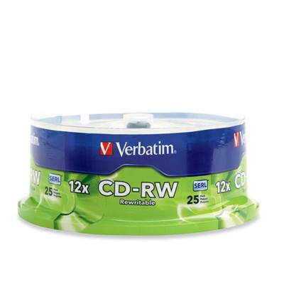 Verbatim 95155 25Pack CDRW 700MB 80Min. 4X-12X Branded