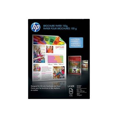 HP Inc. Q6611A Laser Glossy Brochure Paper - 8.5 x 11 in (150 sheets)