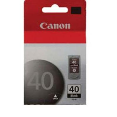 Canon 0615B002 PG-40 - Pigmented black - original - ink cartridge - for FAX JX210  PIXMA iP1800  iP1900  iP2600  MP140  MP190  MP210  MP220  MP470  MX
