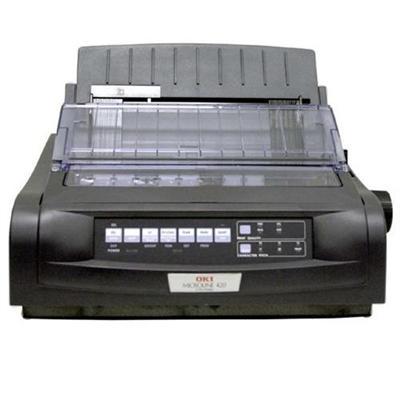 Oki 91909703 Microline 420 - Printer - monochrome - dot-matrix - Roll (10 in) - 240 x 216 dpi - 9 pin - up to 570 char/sec - parallel  USB  serial