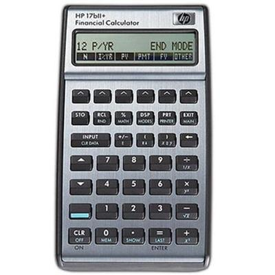 Hp Inc. F2234a#aba 17bii  - Financial Calculator - Battery - Carbonite  Alloy Metallic