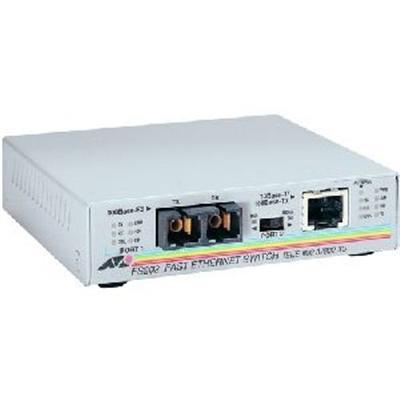 Allied Telesyn AT-FS202-90 AT FS202 - Fiber media converter - Fast Ethernet - 10Base-T  100Base-FX  100Base-TX - RJ-45 / SC multi-mode - up to 1.2 miles