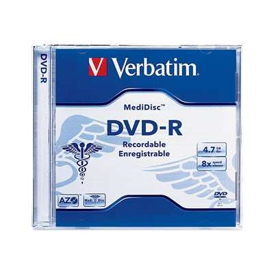 Verbatim 94905 MediDisc DVD-R x 1 - 4.7 GB - storage media