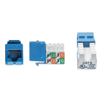 Black Box FM630 GigaTrue - Keystone jack - RJ-45 - blue - for GigaStation