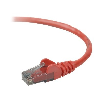 Belkin A3L980B14-RED-S High Performance - Patch cable - RJ-45 (M) to RJ-45 (M) - 14 ft - UTP - CAT 6 - molded  snagless - red - B2B - for Omniview SMB 1x16  SMB