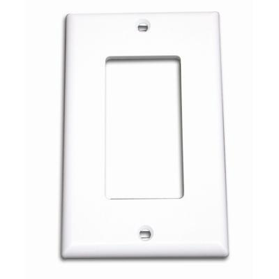 Cables To Go 03724 Decorative Style Cutout Single Gang Wall Plate - Ivory - Mounting plate - ivory