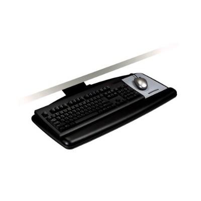 3M AKT70LE Adjustable Keyboard Tray  Lever Adjust Arm  21.75 in Track Standard Platform