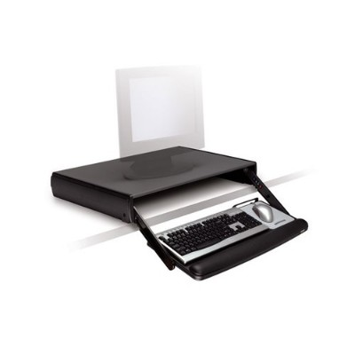 3M KD95CG Adjustable Desktop Keyboard Drawer Black/Charcoal Grey 16.8 in x 27.8 in x 4 in