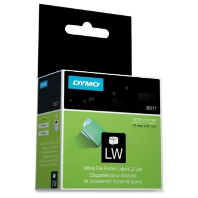 Dymo 30277 LabelWriter File Folder 2-Up - Black on white - 0.5625 in x 3.437 in 260 label(s) (1 roll(s) x 260) file folder labels - for  Desktop Mailing Solutio