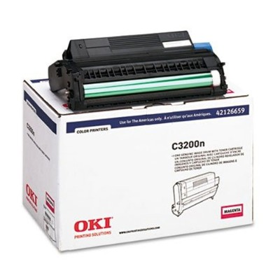 Oki 42126659 Magenta Image Drum with Toner for C3200n - Type C6