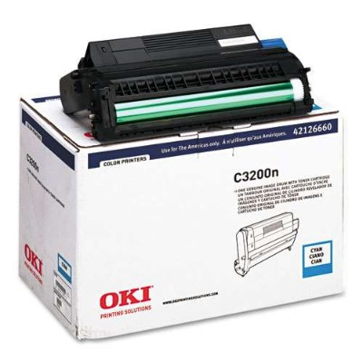Oki 42126660 Cyan Image Drum with Toner for C3200n - Type C6