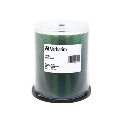 Verbatim 94970 Shiny Silver CD-R 80Min 700MB 52x - 100 pack  Spindle