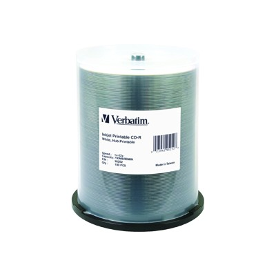 Verbatim 95252 100Pack CDR 700MB 80Min 52X-White - Storage media