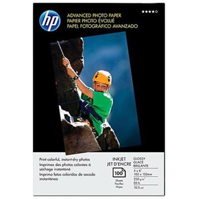 HP Inc. Q6638A Advanced Photo Paper  glossy - 4 x 6 in  borderless (100 sheets)