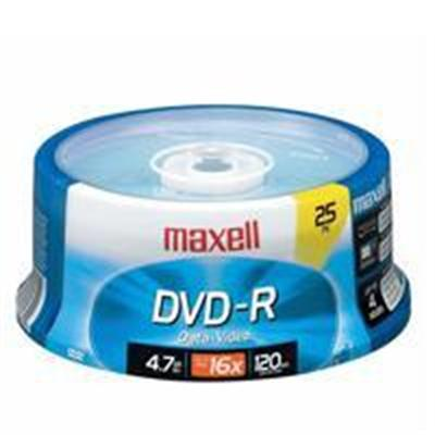 Maxell 638010 25 x DVD-R 4.7GB 16X - Storage media