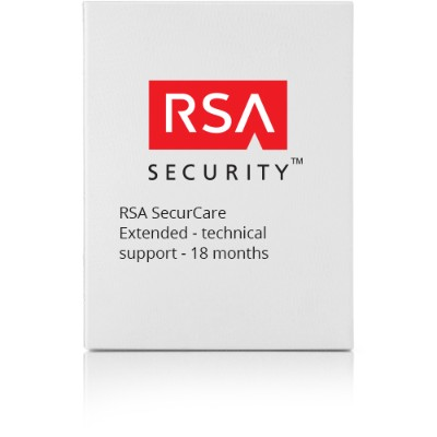 RSA AUT0000150BE18 SecurCare Extended - Technical support - for  Authentication Manager Base Edition - 1 user - volume - 105-150 licenses - phone consulting - 1