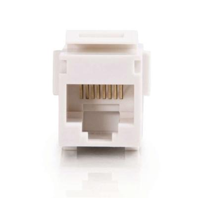 Cables To Go 03677 Premise Plus - Modular insert - RJ-45 - white - 1 port