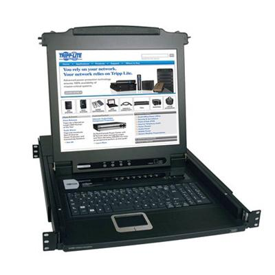 TrippLite B020-008-17 NetDirector 8-Port 1U Rack-Mount Console KVM Switch with 17-in. LCD
