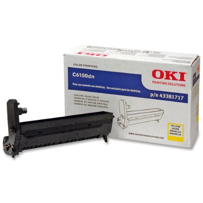 Oki 43381717 Yellow Image Drum Kit for C6100 Series Printers