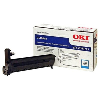 Oki 43381719 Cyan Image Drum Kit for C6100 Series Printers