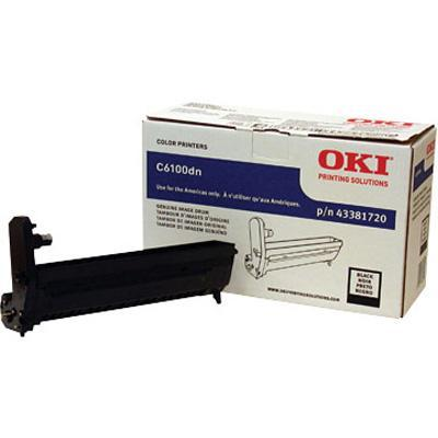 Oki 43381720 Black Image Drum Kit for C6100 Series Printers