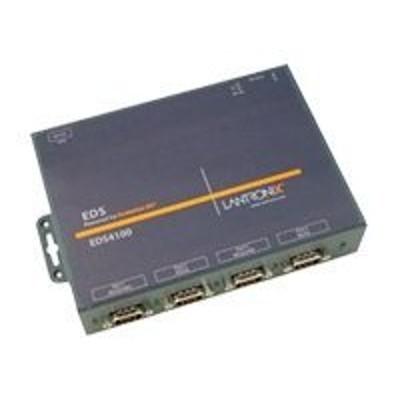 Lantronix ED41000P2-01 Device Server EDS 4100 - Device server - 4 ports - 10Mb LAN  100Mb LAN  RS-232  RS-422  RS-485