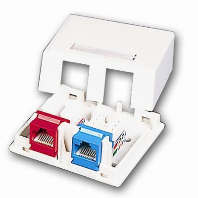 Cables To Go 03832 Premise Plus - Surface mount box - ivory - 2 ports