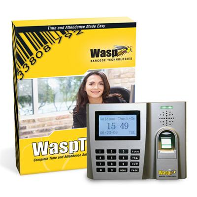 Wasp 633808550356 Time Standard Biometric Solution (v. 7) Box Pack 1 Administrator  50 Employees Cd Win